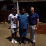 Mfundo Ntombela, Sister Dlamini and Pierre Buckley at the Willowfountain Clinic.