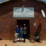Pierre Buckley, Sister Dlamini and Minenhle Nhleko at the Azalea Clinic.