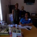 Minenhle Nhleko, Pierre Buckley, and Sister Dlamini at the Ashdown Clinic.