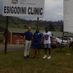 Pierre Buckley, Sister Amanda and Mfundo Ntombela  at the Esigodini Clinic.